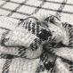 Шанель нарядная костюмная с люрексом клетка на молочно-серебристом фоне
