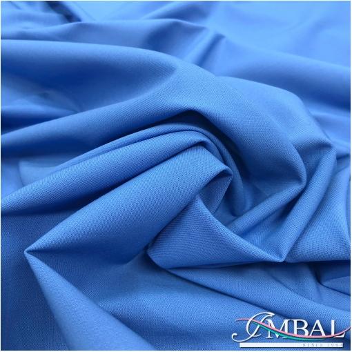 Ткань костюмная шерстяная стрейч Valentino василькового цвета