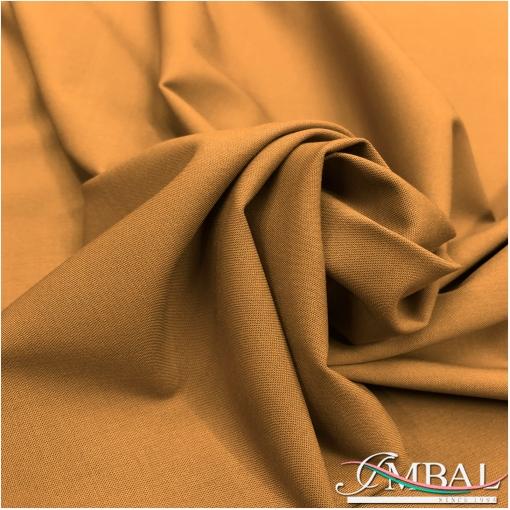 Ткань костюмная шерстяная стрейч горчичного цвета