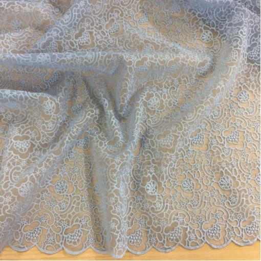 Органза вышитая Valentino голубого цвета