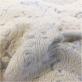 Ткань костюмно-пальтовая шерстяная фактурная вышивка в молочно-ванильных тонах