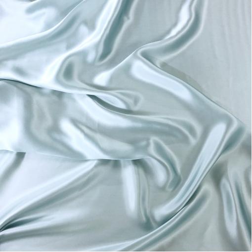 Шелк атласный Pedro Del Hierro нежно-голубого разбеленного цвета