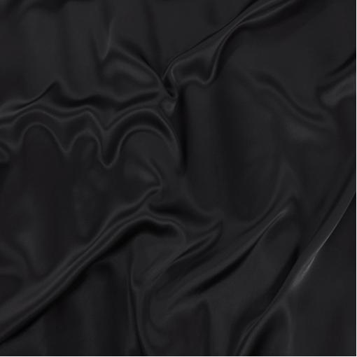 Шелк атласный стрейч черно-синего цвета