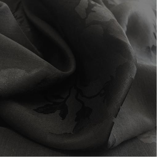 Вискоза плательная креповая принт Ferragamo черного цвета с розами