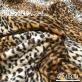 Ткань курточная стеганная с искусственным мелковорсовым мехом под леопард