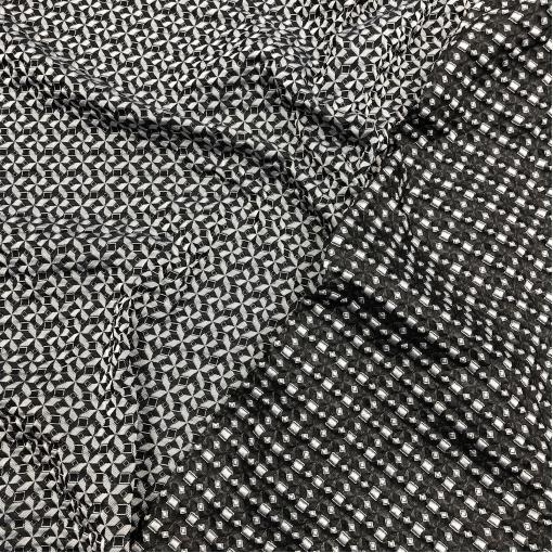 Жаккард нарядный дизайн Prada геометрия с эффектом 3D