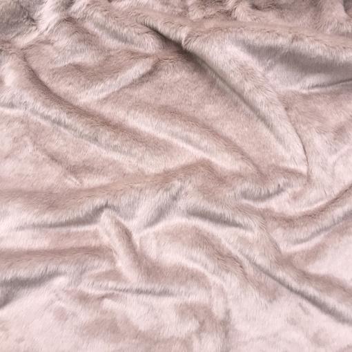 Мех искусственный средне-ворсовый пыльно-розового цвета