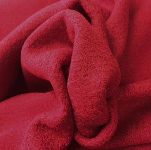 Ткань пальтовая фактурная малиново-винного цвета
