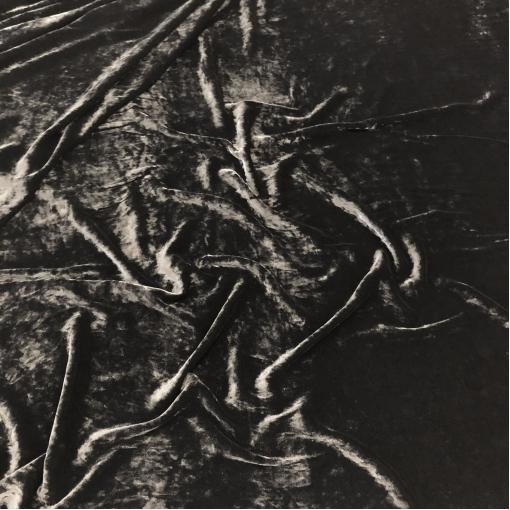 Панбархат на шелковой основе черного цвета