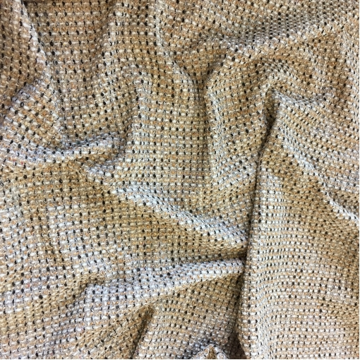 Шанель нарядная шерстяная комфорт с люрексом в пыльно-бежевых тонах