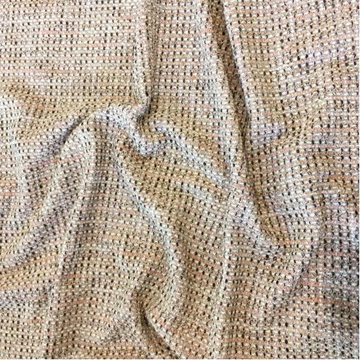 Шанель нарядная шерстяная комфорт с люрексом в пыльно-розовых тонах
