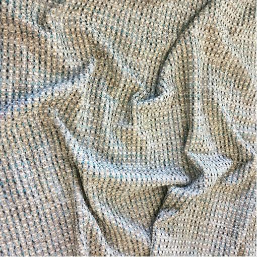 Шанель нарядная шерстяная комфорт с люрексом в пыльно-голубых тонах