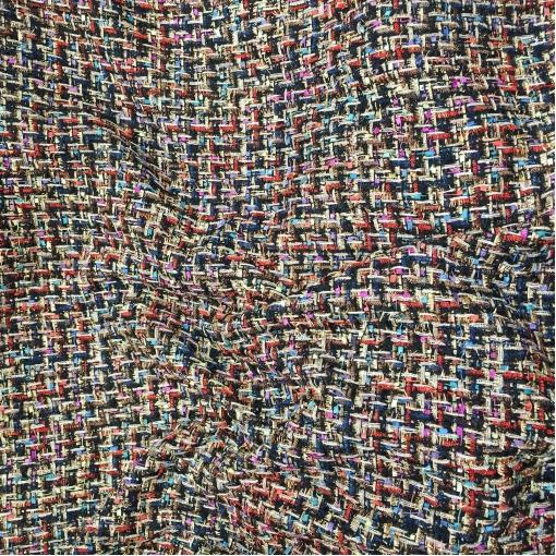 Шанель нарядная крупные разноцветные нити с элегантным люрексом
