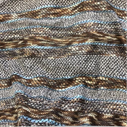 Шанель нарядная шерстяная костюмная в песочно-голубой гамме