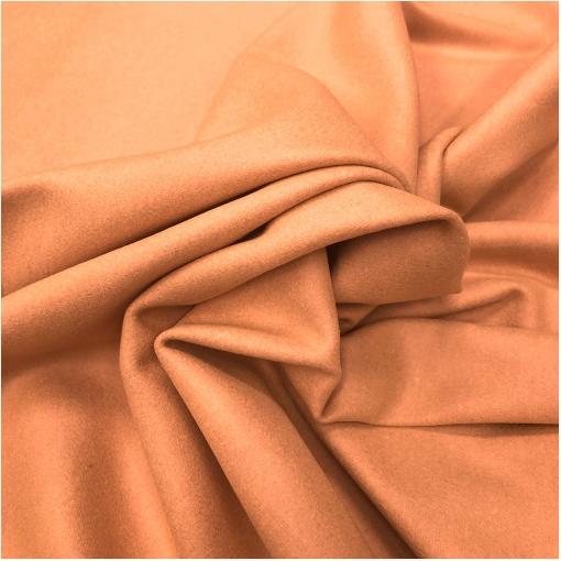 Ткань пальтовая шерстяная цвета мандаринового мороженого