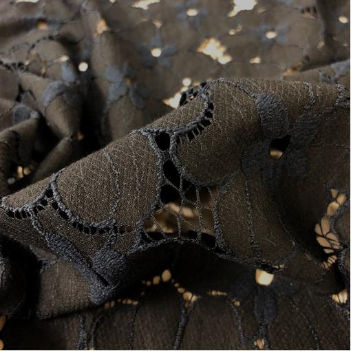 Кружево хлопковое Aspesi сине-черные цветы