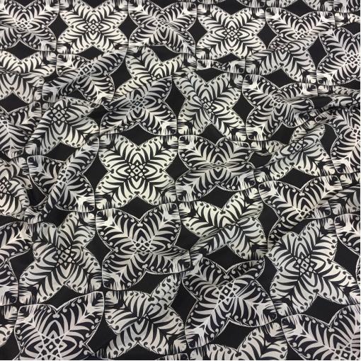 Шелк креповый принт Prada растительный орнамент