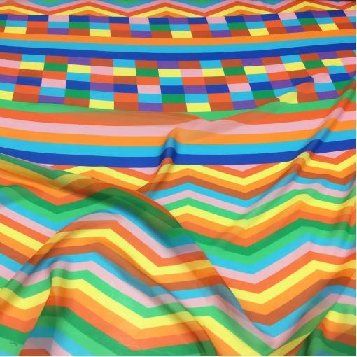 Шелк шифон принт Missoni в яркой цветовой гамме