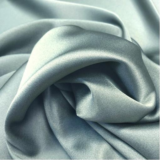 Шелк атласный стрейч La Perla серо-голубого цвета