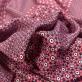 Вискоза креповая кади принт Prada цветочный узор в малиновых тонах