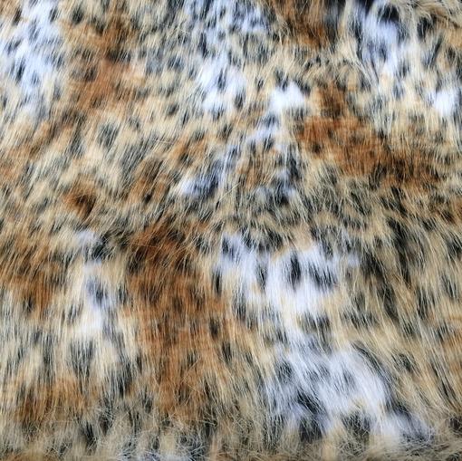 Мех искусственный длинноворсовый под леопард