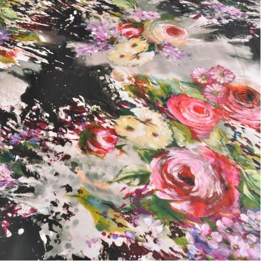 Тафта с цветочным рисунком