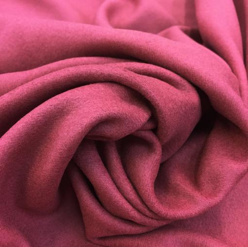 Ткань пальтовая с кашемиром брусничного цвета