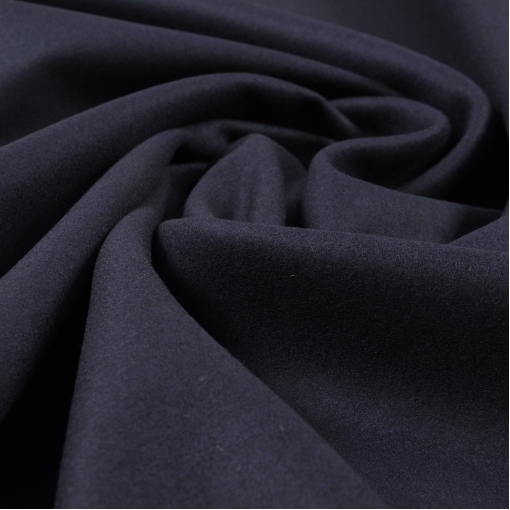 Ткань шерстяная для пошива пальто, цвет темно-синий