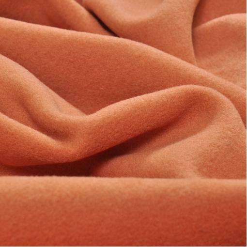 Шерсть пальтовая персиково-тыквенного оттенка