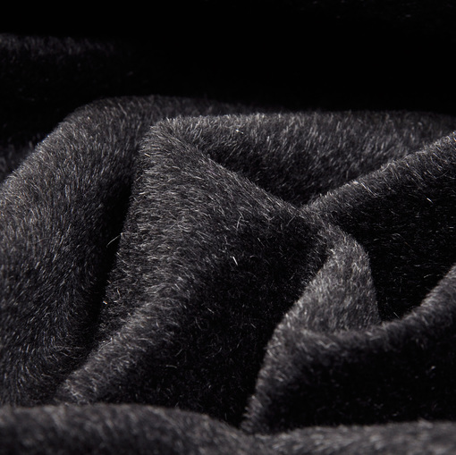 Пальтовая ткань цвета графит с коротким ворсом