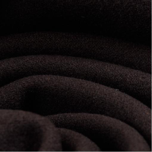 Пальтовая ткань темно-шоколадного цвета
