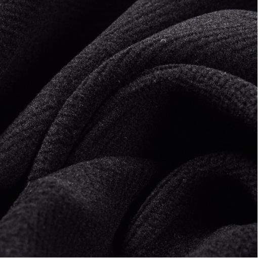 Пальтовая ткань черного цвета с выделкой елочкой