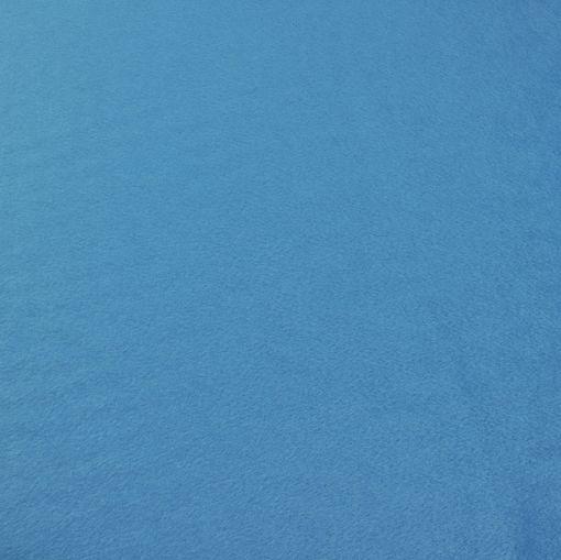 Пальтовая ярко-голубая ткань с кашемиром и небольшой ворсой