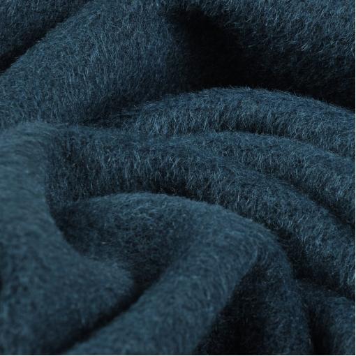 Пальтовая цвета темной морской волны чуть ворсовая ткань