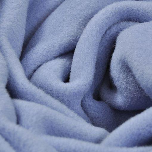 Пальтовая не ворсовая светло-фиалковая ткань с кашемиром