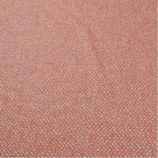 Пальтово-костюмный твид в елочку лососевого цвета