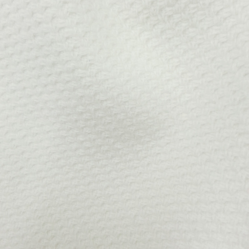 Пальтовая жаккардовая ткань молочного цвета