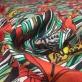 Лен с вискозой принт Gucci тигры в ирисах