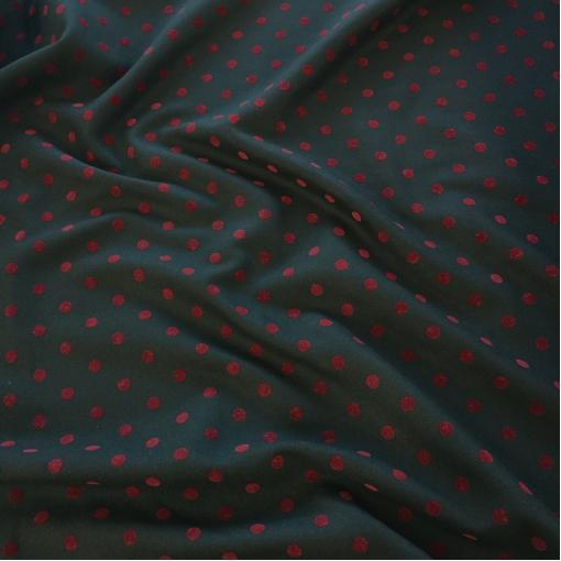 Ткань пальтовая шерстяная Sportmax в бархатный горошек