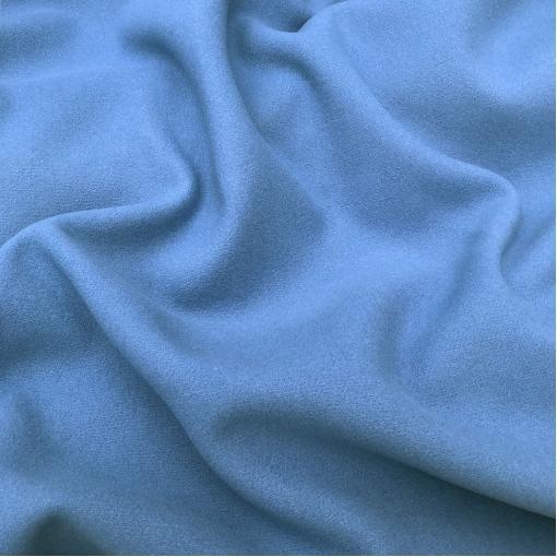 Ткань пальтовая мягкая шерстяная разбеленный цвет марина