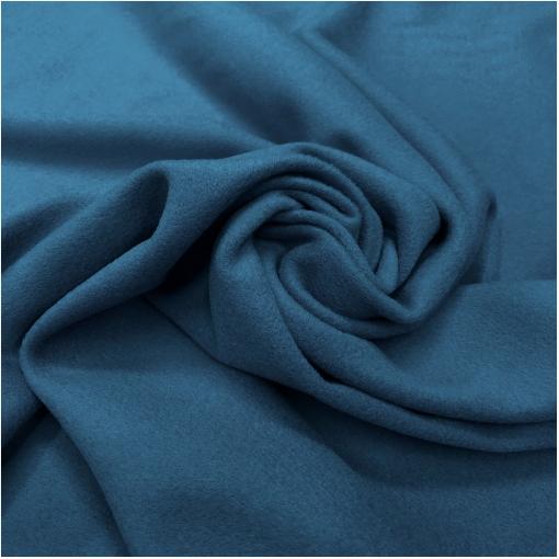 Ткань пальтовая шерсть с кашемиром double face цвета синий индиго