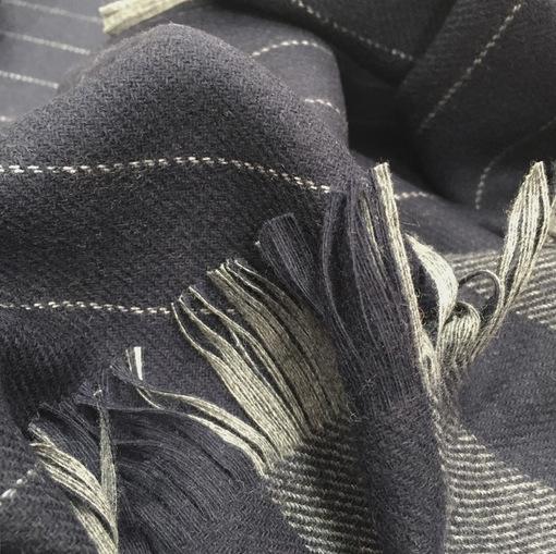 Пледы пончо Armani купон шерстяные в полоску