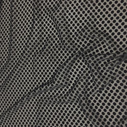 Сетка нарядная Valentino с бархатными горохами черного цвета