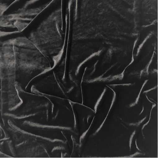 Панбархат вискозный стрейч на шелковой основе черного цвета