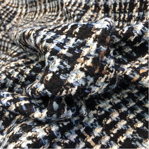 Шанель нарядная шерстяная костюмная в сине-черных тонах