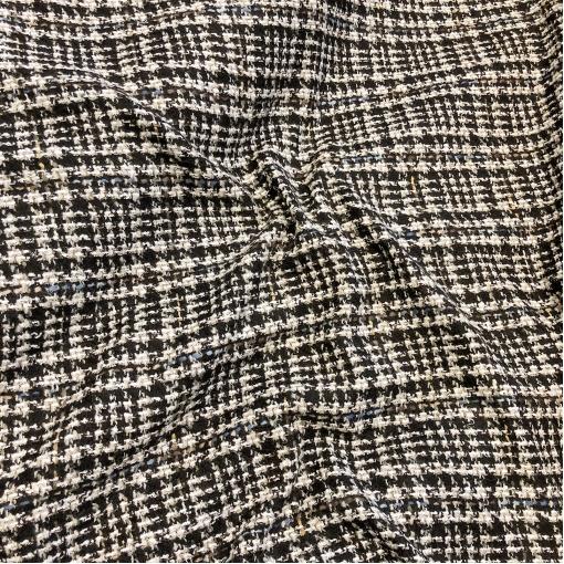 Шанель нарядная шерстяная костюмная в бежево-черных тонах