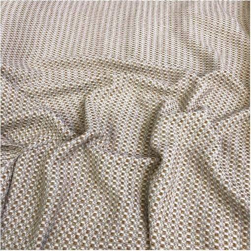 Шанель нарядная костюмно-пальтовая в молочно-бежевых тонах с люрексом