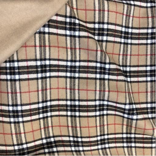 Ткань пальтовая двухсторонняя Burberry классическая клетка