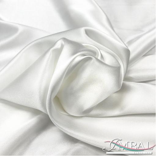 Шелк атласный стрейч высшего качества цвета белый жемчуг