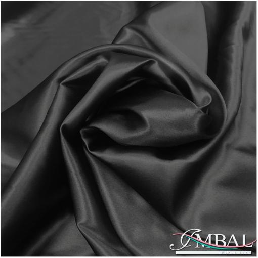 Шелк атласный стрейч высокого качества черного цвета